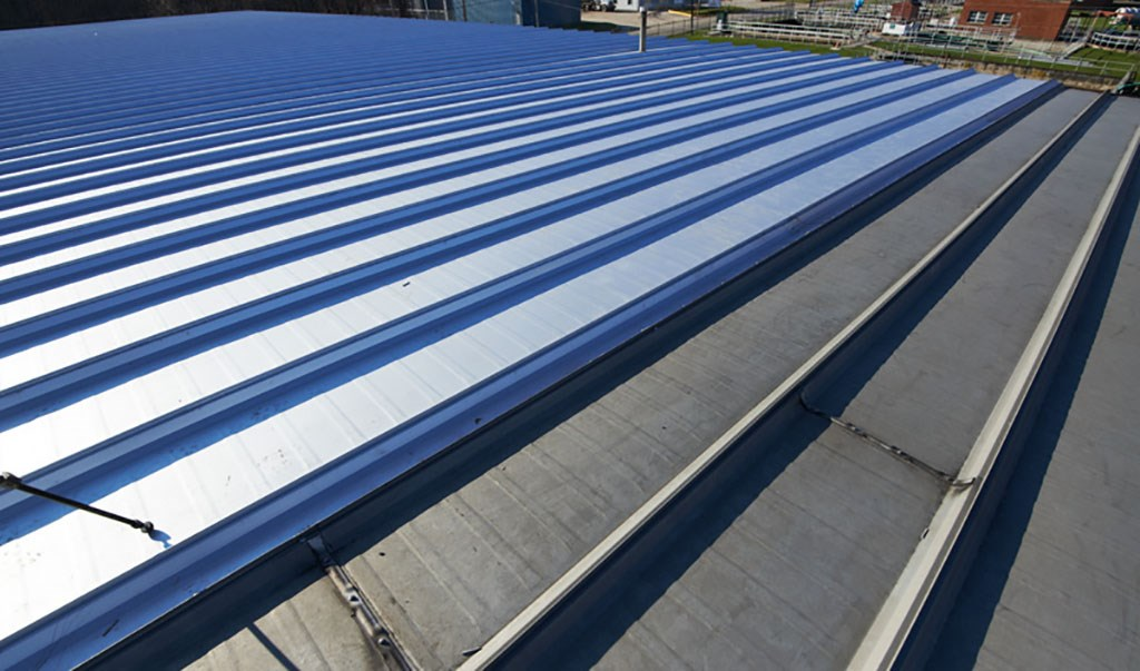 Replace standing-seam metal roof